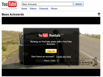 youtube starts renting movies