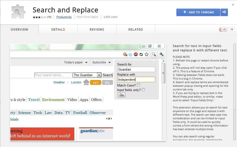 Chrome-Web-Store-Search-and-Replace