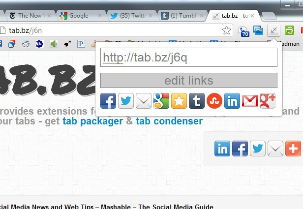 Tab-packager